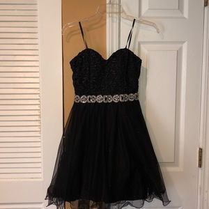 Strapless Black with sparkles cocktail dress